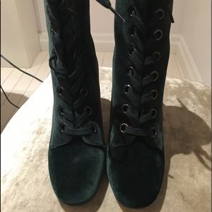 BCBGeneration velour lace up boots